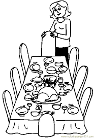 Small Picture Thanksgiving Table Coloring Pages GetColoringPagescom