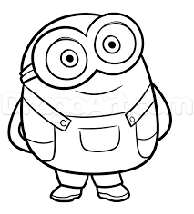 How To Draw Bob From Minions Step 7 Svg Files In 2019 Minion