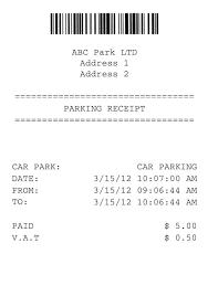 6 Parking Receipt Samples Word Car Format Template