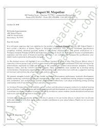 Sample Principal Cover Letter Assistant For Applying Job Simple