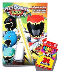 this power ranger activity book is perfect for creative play the 64 pages are filled with coloring and puzzle activities like matching games