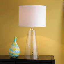 modern tapered clear glass table lamp shades of light photo on outstanding base lamps blenko iconic