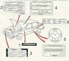 1988 volvo 740 pg 111 label information