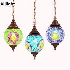 handmade lighting fixtures. Bohemian Lighting Fixtures Vintage Led Pendant Light Handmade  Exotic Style Glass Lamp For Restaurant