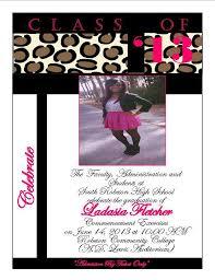 Print Graduation Announcement Cheetah Print Graduation Announcement 8 From Southern Desktop Publishing