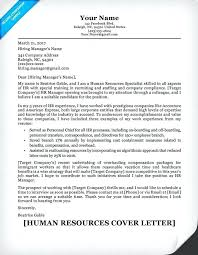 Sample Human Resources Cover Letters Cover Letters For Hr Jobs Dew Drops