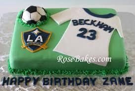 Soccer Cake LA Galaxy David Beckham Birthday Cake 590x399