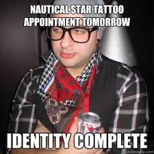 nautical star tattoo appointment tomorrow identity complete ... via Relatably.com