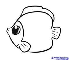 Simple Fish Outline Simple Fish Drawing Project For Q Coloring Pages Animal
