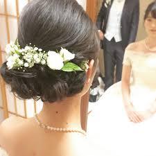 黒髪で作る可愛い花嫁ヘアアレンジのコツは Marryマリー Wedding