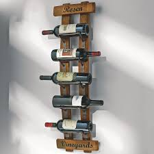 personalized reclaimed barrel stave wall rack  wine enthusiast