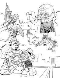 Coloring Page Lego Marvel Avengers Age Of Ultron Comic Book