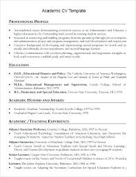 Academic Resume Template Best Format Academic Curriculum Vitae Template Word Indonesia