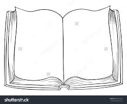 book drawing cartoon