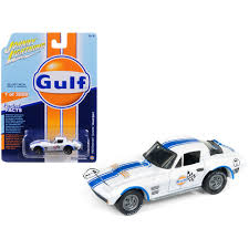 1963 chevrolet corvette grand sport gulf 7 white with blue stripes limited edit 14 35