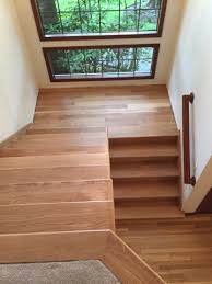 white oak floor and stairs