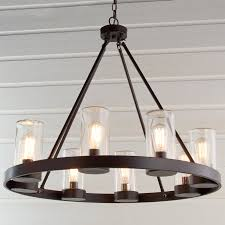 round industrial indooroutdoor chandelier  shades of light