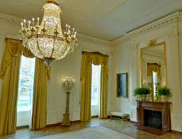 at the end of the cross hall lays the largest room of the white house the east room
