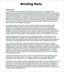 Sample Briefing Note 5 Documents In Word Memo Template Executive ...