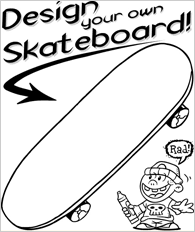 Printable Design Your Own Skateboard Coloring Page Ashtons 5th
