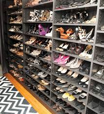 what does a stylists shoe and handbag closet look like contemporary wardrobe