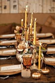 Gilded decor for Thanksgiving day.