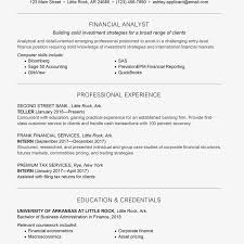 Corporate Resume Format Entry Level Finance Cover Letter And Resume Samples