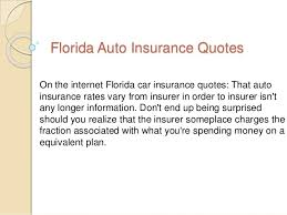 Car Insurance Quotes Florida Best Florida Auto Insurance Quotes