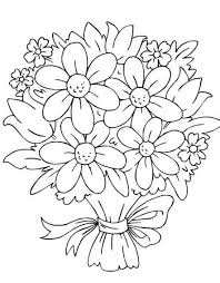 new print out flower coloring pages collection 1 h bouquet of flowers coloring page