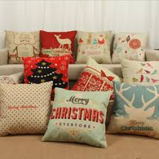 christmas pillows on sale. Wonderful Pillows 11 Color Merry Christmas Pillow Case Linen Cottion Cover Chron Cushistmas  Tree Reindeer Decoration Xmas Covers In Pillows On Sale