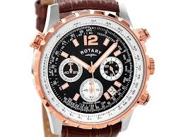 rotary gs00200 04 rose gold plated chronograph brown leather strap default image rotary gs00200 04 rose gold plated chronograph brown leather strap watch w1217alternative image1
