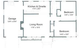 this two bedroom house plan combines both the kitchen and the dinette together it also comes with a garage area its two bedrooms share diffe washrooms