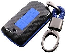 <b>Silicone Car Key</b> Case Cover Keychain for Mitsubishi Outlander ...