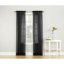 918 sheer crushed voile curtain panel black size 63 inches