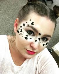 dalmatian face paint easy puppy makeup idea dalmatian face painting design