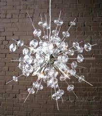 brushed nickel sputnik chandelier glass bubbles float in all directions on this gorgeous sputnik style chandelier