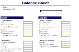 Basic Balance Sheet Template Excel Balance Sheet Template Balance Sheet Sample