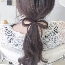 女らしさ全開自分の髪の毛でつくるリボンヘアアレンジのやりかたhair