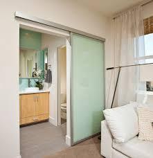 sliding passage door satin aluminum surface mounted top hung sliding doorcontemporary bathroom san go