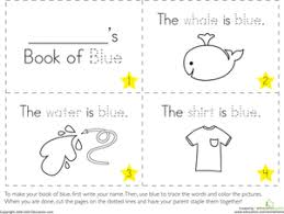 Small Picture The Color Blue Worksheet Educationcom