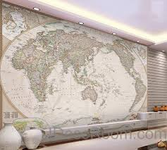 wallpaper for office walls. Classic HD World Map 3D Wallpaper Wall Decals Art Print Mural Home Decor Indoor Office For Walls