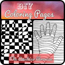 The Amateur Librarian Diy Coloring Pages