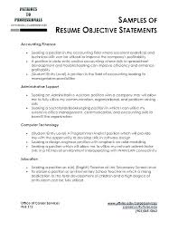Example Of Objective For Resume Sample Objectives For Resumes