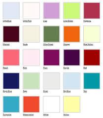 Wedding Color Chart Wedding Dresses Color Chart Hut Bar