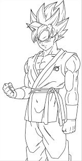 Goku Super Saiyan Blue Coloring Pages