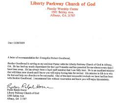 Recommendation Pastor Horne Goodbread Ministries