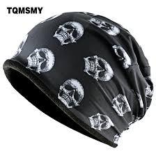 TQMSMY Fashion Skull Pattern <b>Hats</b> For Men <b>Winter</b> Warm <b>Skullies</b> ...