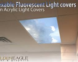 office ceiling light covers. Flexible Fluorescent Light Cover Films Skylight Ceiling Office Medical Dental Sky Sunbeam Blue - Gathering Storm Covers L