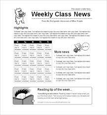 School Newspaper Template Publisher Weekly School Newsletter Template Momomo