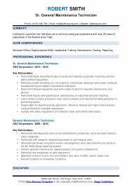 general maintenance resumes general maintenance technician resume samples qwikresume